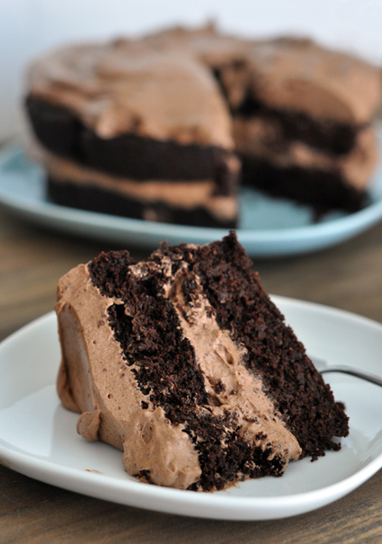 #RECIPE - Decadent Chocolate Cake with Whipped Chocolate Frosting {Shockingly Gluten-Free!}   Gluten Sensitive   Scoop.it