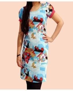 Multiprinted Puff Sleeves Kurtis | EdayGarments- Buy Dresses, skirts, tops, Tunics | Scoop.it