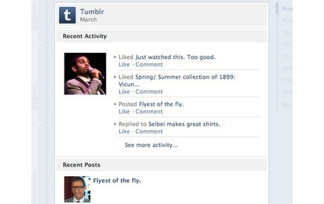 Tumblr integrates with Facebook Timeline, News Feed and Ticker . . . | The Information Specialist's Scoop | Scoop.it