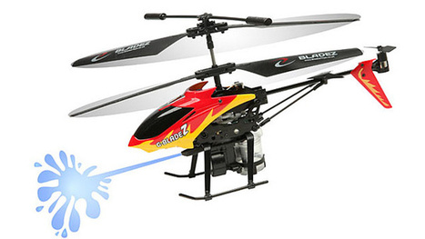 Squirting RC Helicopter Brings the Water Gun Fight to Your Opponent - Gizmodo UK | Quadcopters | Scoop.it