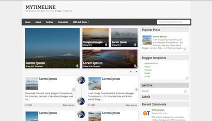MyTimeLine Blogger template - BTemplates | The best blogger templates | Scoop.it