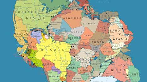 Here's what Pangea looks like mapped with modern political borders | Aardrijkskunde | Scoop.it