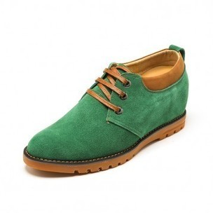 Comfortable Green Cow Leather Height Lift Casual Shoes Get Tall 6 cm / 2.36 inch on sale at topoutshoes.com | Elevator Casual shoes men height increasing Taller | Scoop.it
