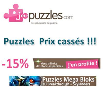 Puzzles à Prix Cassés - 15% sur tous les puzzles Mega Bloks chez jeu-puzzles.com | Jeux store | Scoop.it