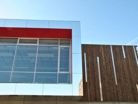 Bardage bois en triple peau pour le centre sportif de Valenton | Menuiserie et Panneaux | Scoop.it