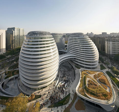 Galaxy Soho by Zaha Hadid Architects photographed by Hufton+Crow | Unique Places | Scoop.it