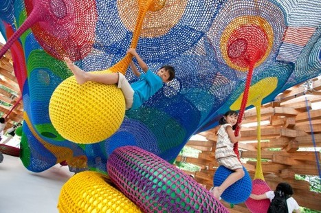 Meet the Artist Behind Those Amazing, Hand-Knitted Playgrounds | Urban Choreography | Scoop.it