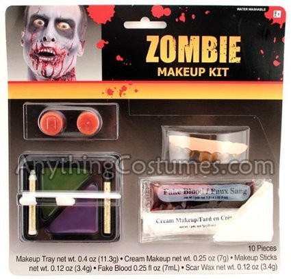 Halloween 2013 Zombie Makeup Kit Adult Accessory from Rubie's Costume Co Sales $ Deals | Halloween Costumes 2013 | Scoop.it