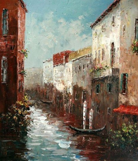 Real Handmade Venice Oil painting | oil painting | Scoop.it
