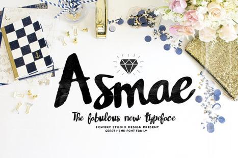 Free this week only » Asmae Script Font | Design Freebies & Deals | Scoop.it
