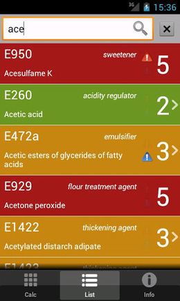 E Numbers Calc Food Additives v1.9.5 (Info) | None | Scoop.it