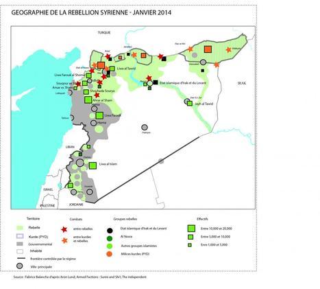 Carte : Géographie de la rebellion syrienne (janvier 2014) | Géographie | Scoop.it