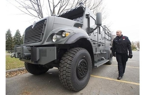Police show off armoured vehicle - CJAD | defense | Scoop.it