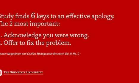 The six elements of an effective apology, according to science | Facilitation in Motion | Scoop.it