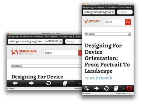 Developing Responsive Designs With Opera Mobile Emulator | Smashing Mobile | UX Design : user experience and design thinking | Scoop.it