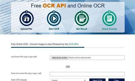 Free OCR: utilidad web para extraer el texto de imágenes y documentos   educación integral   Scoop.it