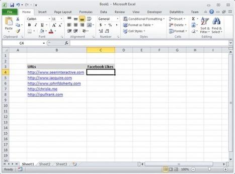 Get Facebook Likes in Excel using DataNitro | SEER Interactive | Excel For SEO | Scoop.it