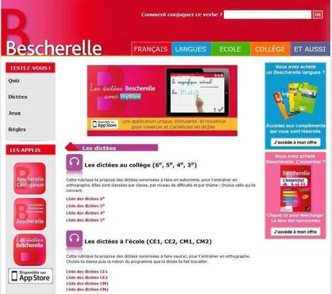 Des dictées pour s'entraîner en ligne avec Bescherelle   TICE, Web 2.0, logiciels libres   Scoop.it