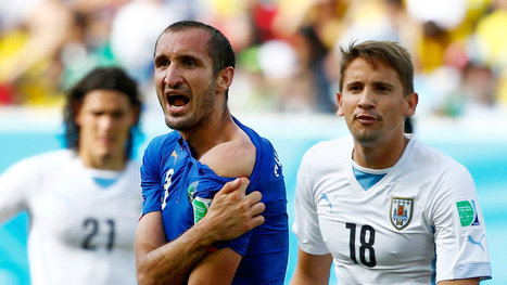 Uruguay's Suárez, Known for Biting, Leaves Mark on World Cup | web findings | Scoop.it