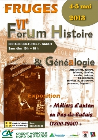 6e forum Histoire & Généalogie de Fruges (62) - La Revue française de Généalogie   Histoire Familiale   Scoop.it