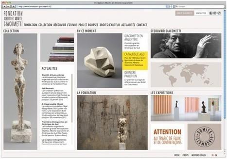 IL Y A 3 ANS...Un nouveau site web et près de 1 000 oeuvres en ligne pour la Fondation Giacometti | Clic France | Scoop.it