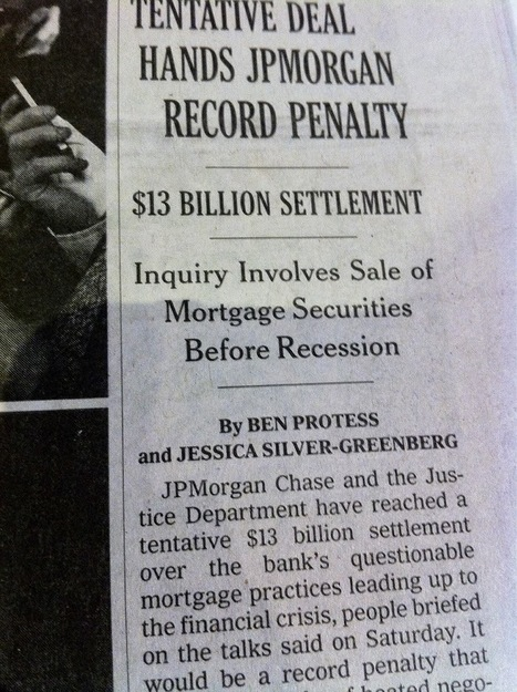 What's this? #JPMorgan and #USDOJ makes a deal?  But what about their victims?   Criminal Justice in America   Scoop.it