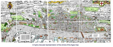 The Agas Map: Comprendre Londres: La ville comme elle était au 16e s. | URBANmedias | Scoop.it