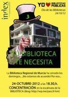 En Murcia protestarán por el cierre de la Biblioteca Regional los ... | Index Murcia | Scoop.it