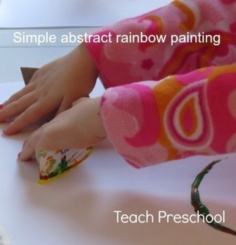 Simple but beautiful abstract rainbow paintings | Teach Preschool | Scoop.it