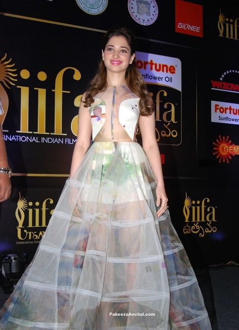 Tamanna Bhatia in white Sheer Gown by Gauri & Nainika at IIFA Utsavam Awards Curtain Raiser | Indian Fashion Updates | Scoop.it