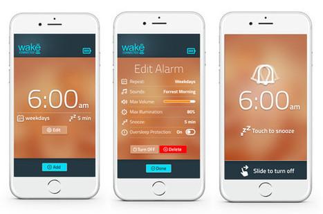 Wake, un réveil lumineux et sonore intelligent   Hightech, domotique, robotique et objets connectés sur le Net   Scoop.it