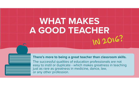 What Makes a Good Teacher in 2016 - ITN Mark Education | Transformational Teaching and Technology | Scoop.it