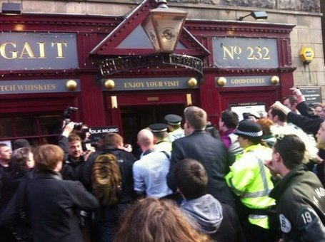 Nigel Farage Hides In Edinburgh Pub To Escape Mob Chanting 'Racist Nazi Scum' | Today's Edinburgh News | Scoop.it