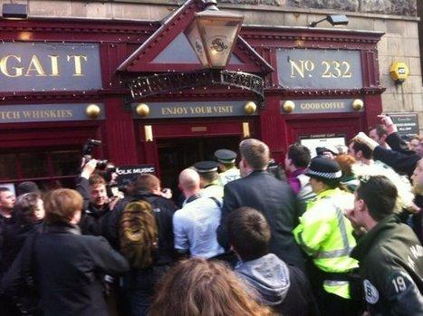 Nigel Farage Hides In Edinburgh Pub To Escape Mob Chanting 'Racist Nazi Scum'   Today's Edinburgh News   Scoop.it