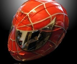 Spider-Man Motorcycle Helmet: with Great Power Comes Great Responsibility ... - Technabob (blog) | Motorcycle Safety | Scoop.it