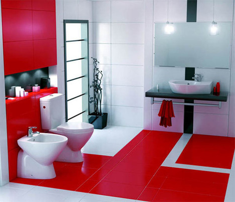 Amazing Red Bathroom Designs | 2012 Interior Design, Living Room Ideas, Home Design | Scoop.it