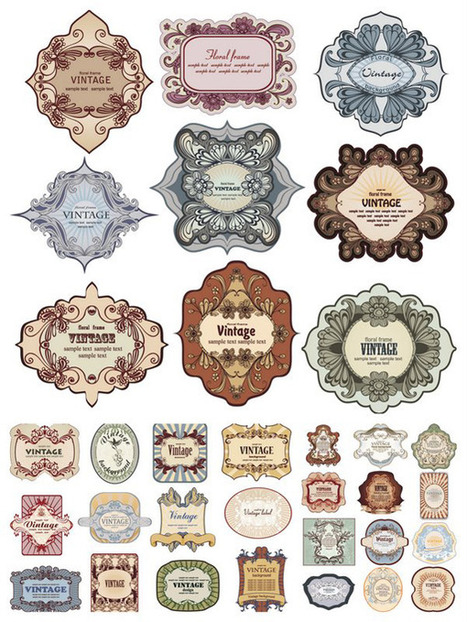 Freebies: 20 Awesome Sets of Labels and Tags | Inspiration Mix | Art - Craft - Design- Net | Scoop.it