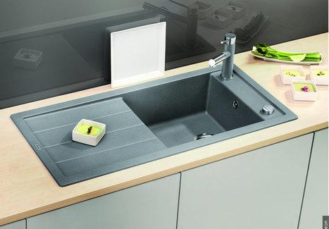 [Cuisine] Ensemble coordonné évier, robinet et poubelle de tri Blanco | Immobilier | Scoop.it