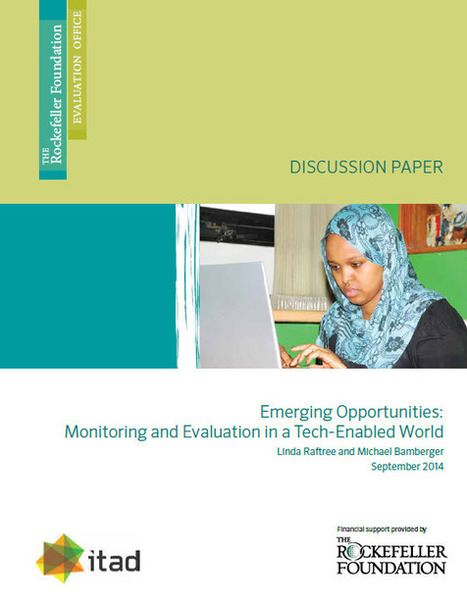 Emerging Opportunities: Monitoring and Evaluation in a Tech-Enabled World : The Rockefeller Foundation | Researching OER | Scoop.it