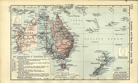 Map of Australia and New Zealand since 1788 | Humanities History and Geography | Scoop.it