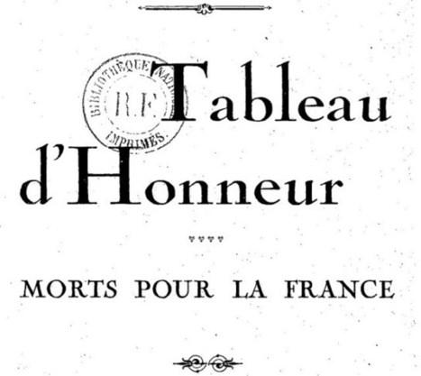 Projet d'Indexation du Tableau d'Honneur 14-18 #ProjetTHMPF1418 | Rhit Genealogie | Scoop.it