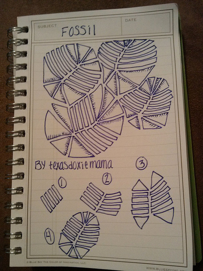 fossil tangle | Artistic Line Designs-all free | Scoop.it