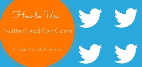 How To Use Twitter Lead Gen Cards To Target Your Ideal Customer | Social Media, SEO, Mobile, Digital Marketing | Scoop.it