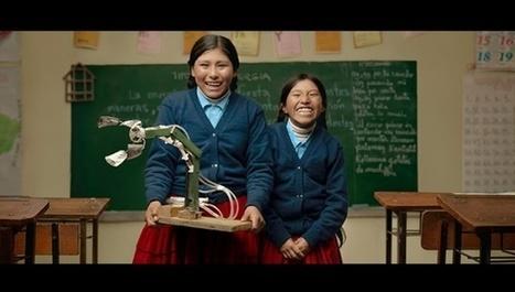Niñas bolivianas crean brazo hidráulico con material reciclable   En torno a la silla   Scoop.it