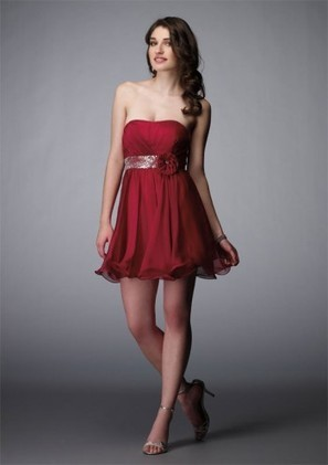 A Line Strapless Mini Red Organza Homecoming Dress Adoap0014 - Homecoming Dresses - Special Occasion Dresses | mode | Scoop.it