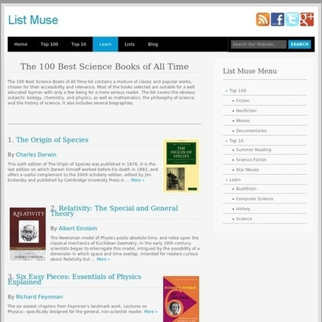 The 100 Best Science Books of All Time - Listmuse.com | Learning, Teaching & Leading Today | Scoop.it
