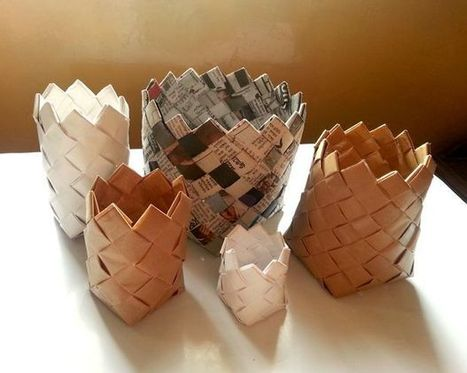 Recycled Paper Baskets | Maker Lessons & Activities | Scoop.it