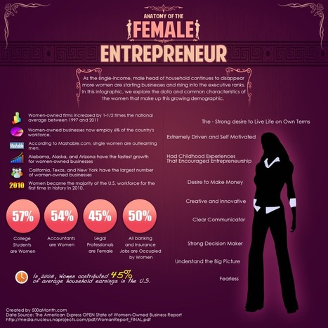 Anatomy of The Female Entrepreneur [Infographic] | Soup for thought | Scoop.it