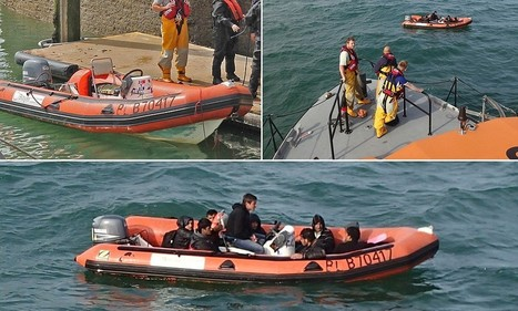 Fears of new flood of refugees as eight suspected illegal immigrants are rescued in English Channel after their tiny rubber dinghy broke down | A.I.F News Feed | Scoop.it