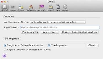Restaurer les derniers onglets et fenêtres utilisés au démarrage de Firefox - Protuts.net | TIC et TICE mais... en français | Scoop.it